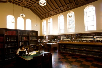 Inside Powell Library's Main Reading Room----Photo Credit: Stephanie Diani